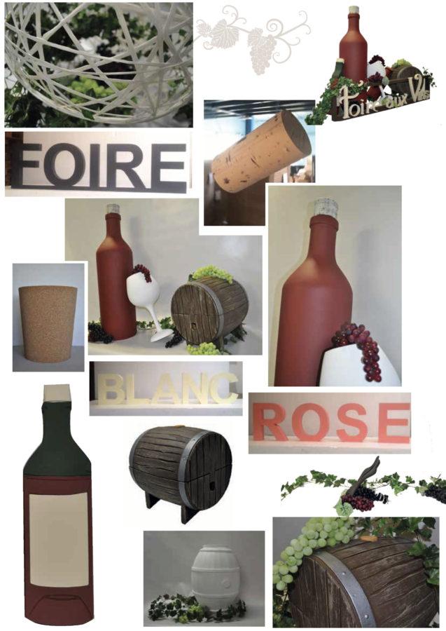 Créations sur mesure en polystyrène : foire aux vins