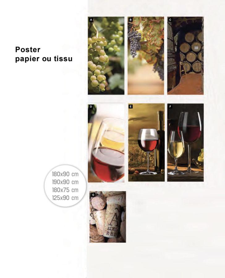 Poster papier ou tissu : foire aux vins