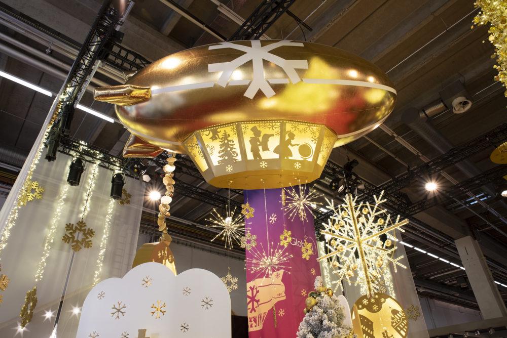 Ballon dirigeable LED gonflable géant