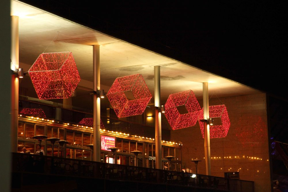 Cubes rouges LED