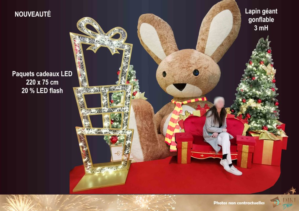 scène-lapin-géant-tour-paquets-cadeaux