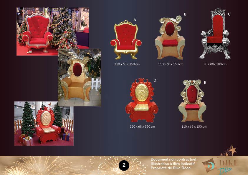 Catalogue sièges père Noël